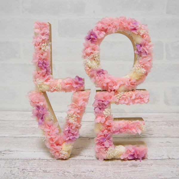 フラワーオブジェ LOVE