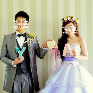 結婚式 イニシャル小物 プリザーブドフラワー