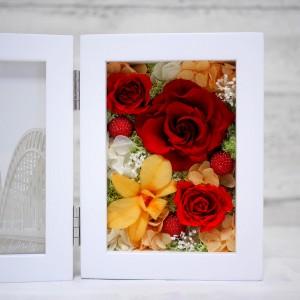 プリザーブドフラワー 還暦祝い 赤バラ