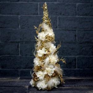 クリスマスツリー ゴールド プリザーブドフラワー