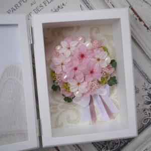 プリザーブドフラワーの桜のブーケ