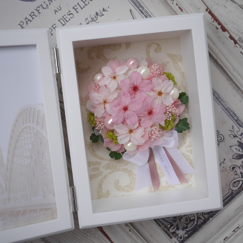 桜のブーケのプリザーブドフラワー