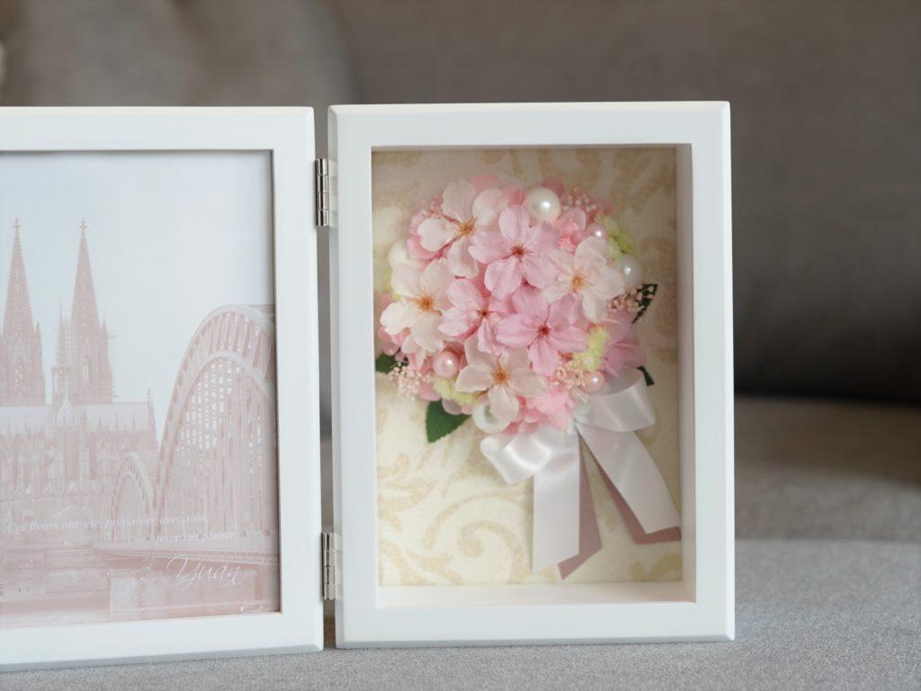 桜のプリザーブドフラワーのブーケ